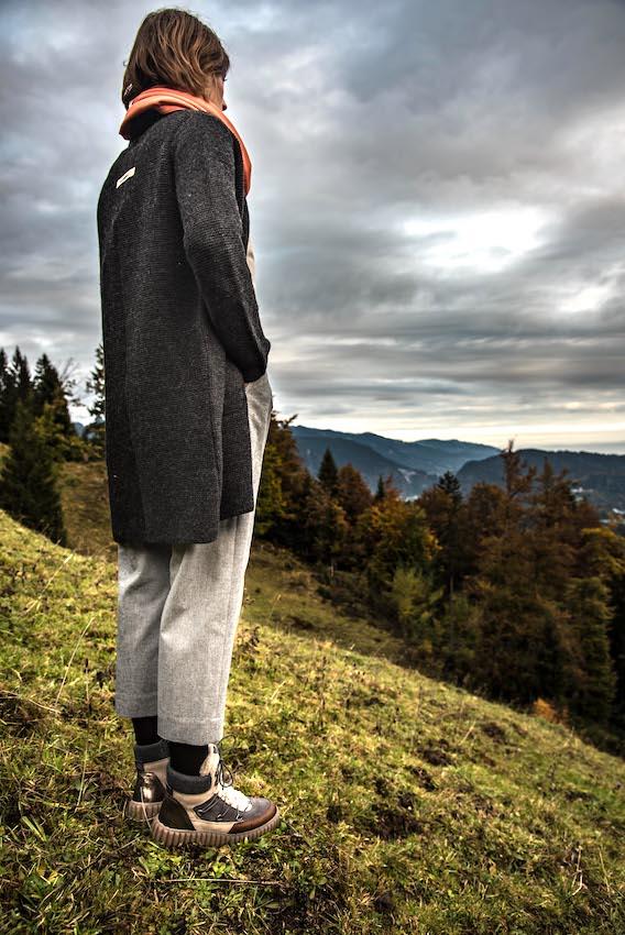 Strickmantel Elliana von Grenzgang Südtirol Allgäu