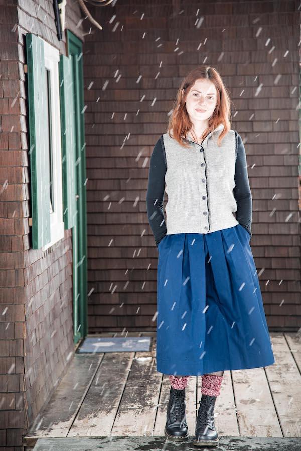 Die Strickweste Susanne von Grenz/gang Slow Organic Fashion